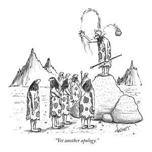 """Yet another apology."" - New Yorker Cartoon by Tom Cheney"