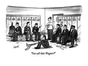 """You call that Wagner?"" - New Yorker Cartoon by Tom Cheney"