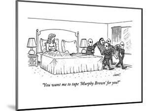 """""""You want me to tape 'Murphy Brown' for you?"""" - New Yorker Cartoon by Tom Cheney"""