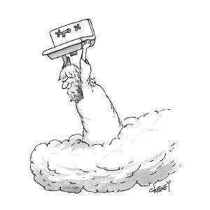 Zeus throwing the kitchen sink. - New Yorker Cartoon by Tom Cheney