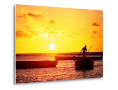 Boats on Sea at Sunset