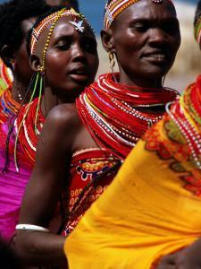 Dancers, El Molo Village, Lake Turkana, Kenya by Tom Cockrem