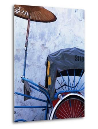 Detail of Rickshaw Leaning Against Wall on Cintra Street, Georgetown, Malaysia