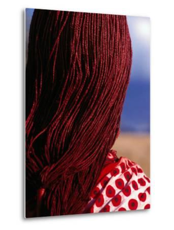 Maasai Warrior's Plaited Hair, Masai Mara National Reserve, Kenya