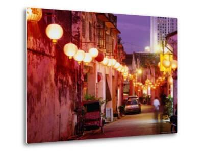 Narrow Street in Chinatown Decorated with Lanterns, Melaka, Malaysia