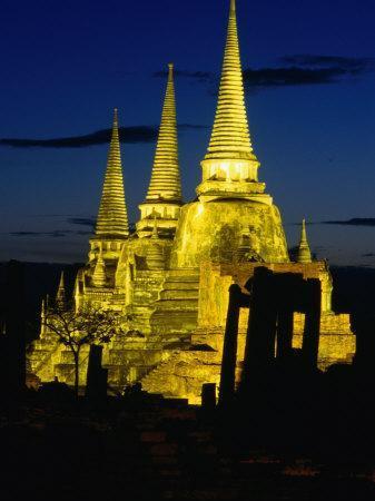 Wat Phra Sri Sanphet Built by King Ramathibodi I in the 14th Century, Ayuthaya, Thailand