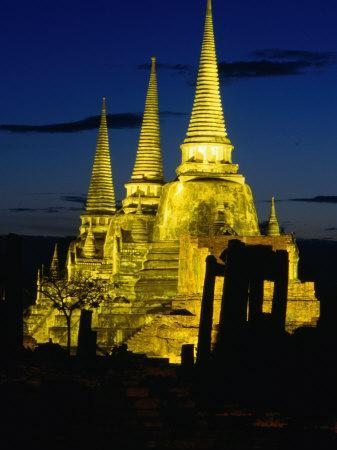 Wat Phra Sri Sanphet Built by King Ramathibodi I in the 14th Century, Ayuthaya, Thailand