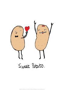 Sweet Potato - Tom Cronin Doodles Cartoon Print by Tom Cronin