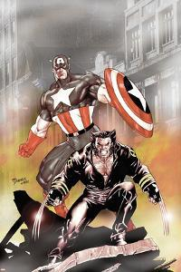 Wolverine Captain America No.1 Cover: Wolverine and Captain America by Tom Derenick