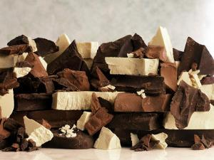 White, Dark and Milk Chocolate Pieces by Tom Eckerle
