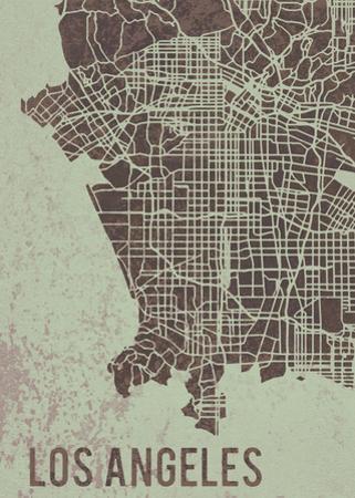 LA Street Map by Tom Frazier
