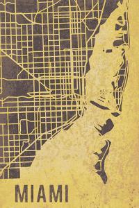Miami Street Map by Tom Frazier