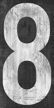 Retro Numbers - Eight