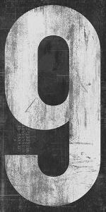 Retro Numbers - Nine by Tom Frazier
