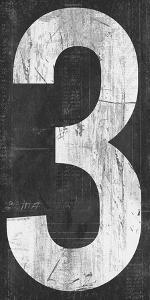 Retro Numbers - Three by Tom Frazier