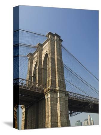 Brooklyn Bridge Tower and Lower Manhattan