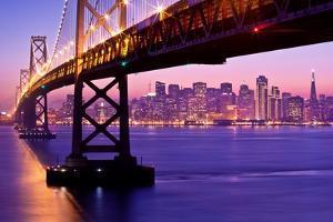 Bay Bridge Twilight by Tom Grubbe