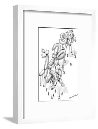 Parade of twisted balloon animals. - New Yorker Cartoon