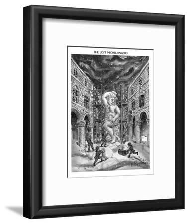 The Lost Michelangelo - New Yorker Cartoon