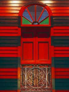 Antique Parque de Bombas or Fire Station, Ponce, Puerto Rico by Tom Haseltine