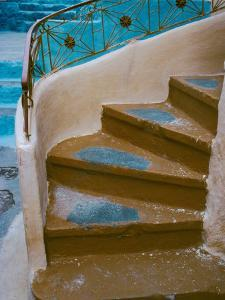 Curved Stairway in Athens, Greece by Tom Haseltine