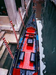 Gondola Docked in Venice, Italy by Tom Haseltine