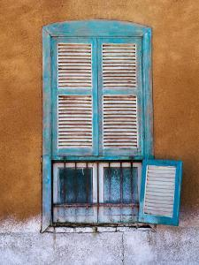 Nubian Window in a Village Across the Nile from Luxor, Egypt by Tom Haseltine