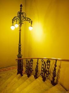 Ornate Lamp and Stairway, Rio de Janiero, Brazil by Tom Haseltine