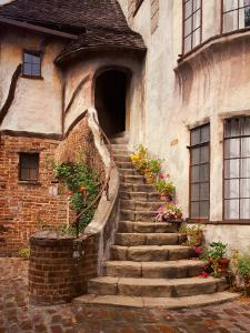 Stairs Leading into a Building, Berkeley, California, USA by Tom Haseltine
