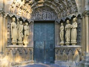 Statues at the Entrance of the Church of Our Dear Lady, Rhineland-Palatinate, Trier, Germany by Tom Haseltine