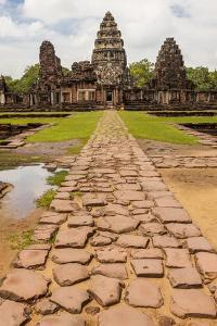 Thailand. Phimai Historical Park. Ruins of ancient Khmer temple complex. Central Sanctuary. by Tom Haseltine