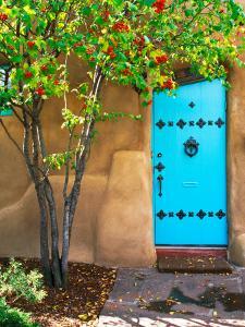 Turquoise Door, Santa Fe, New Mexico by Tom Haseltine