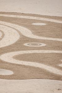 USA, Oregon, Bandon Beach. Geometric drawings in the sand. by Tom Haseltine