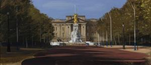 Buckingham Palace, the Mall, August by Tom Hughes