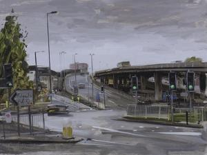 Eastville Roundabout, Light Rain, October by Tom Hughes