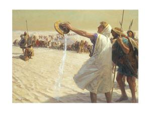 A Painting Depicts Alexander the Great Refusing Water in the Desert by Tom Lovell