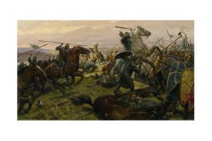 Oil Painting of the Battle of Hastings by Tom Lovell