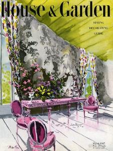 House & Garden Cover - March 1947 by Tom Martin