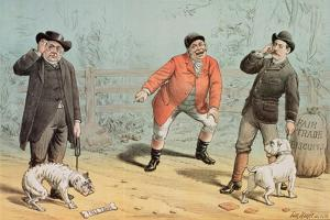The British Bull Dog Show, from 'St. Stephen's Review Presentation Cartoon', 25 February 1888 by Tom Merry