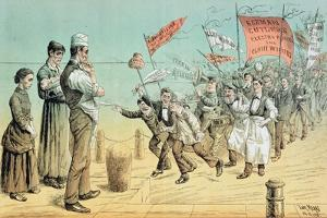 The German Invasion, from 'St. Stephen's Review Presentation Cartoon', 2 October 1886 by Tom Merry
