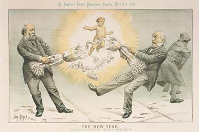 The New Year, from 'St. Stephen's Review Presentation Cartoon', 31 December 1887