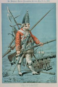 The Old Guard, Armed Yet Defenceless, from 'St. Stephen's Review Presentation Cartoon', 26 May 1888 by Tom Merry
