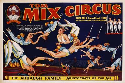 Tom Mix Circus Poster--Giclee Print