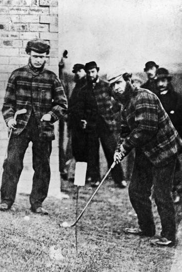 Tom Morris Preparing to Swing His Golf Club--Photographic Print