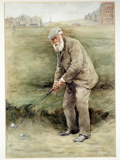 Tom Morris senior, British golfer, portrait, c1910-Unknown-Giclee Print