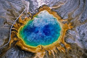 Aerial View of the Colorful Grand Prismatic Spring by Tom Murphy