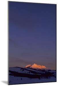 Distant View of Snow-Covered Electric Peak by Tom Murphy