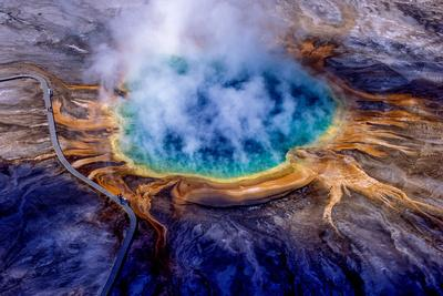 Grand Prismatic Spring, One of the Largest and Most Beautiful Hydrothermal Features