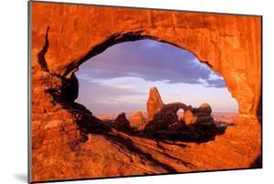 Turret Arch Seen Through North Window at Sunrise by Tom Murphy