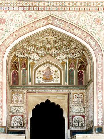 Architectural Detail. Amber Fort. Jaipur. Rajasthan. India by Tom Norring
